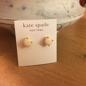 Kate Spade White Faceted Crystal Stud Earrings